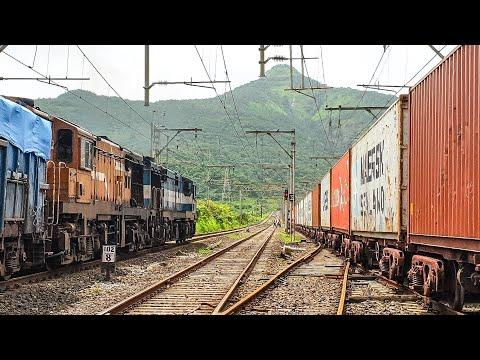 Heavy Powered Freights crossing at Palasdari | Bhor Ghat