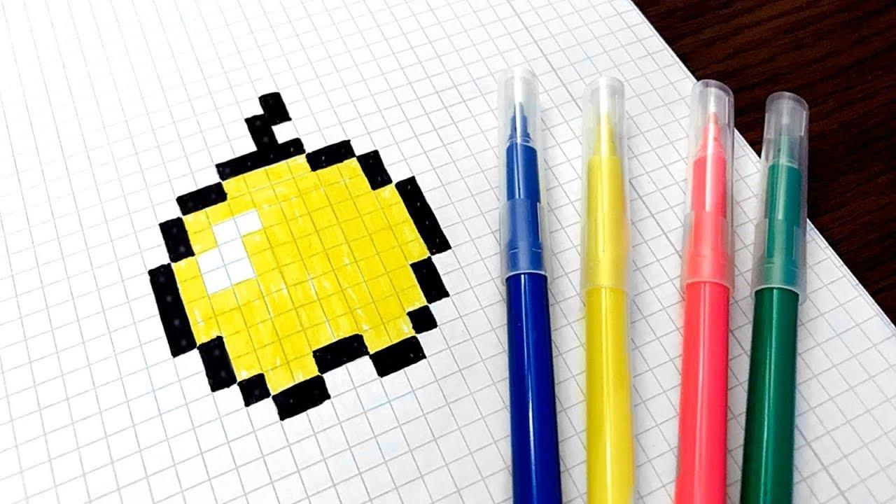 Le Boss Du Pixel Comment Dessiner La Pomme Dor De Minecraft Pixel Art