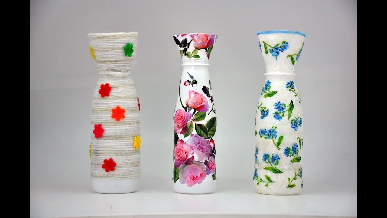 Wazon Z Plastikowej Butelki Recycled Diy Vase With A Plastic Bottle Youtube