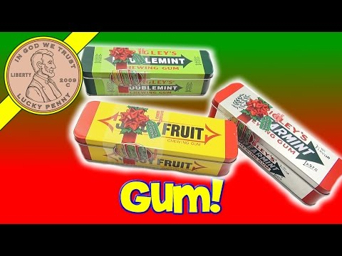 Wrigleys Chewing Gum Christmas Collectors Tins Juicy Fruit Doublemint Spearmint Stocking Stuffers
