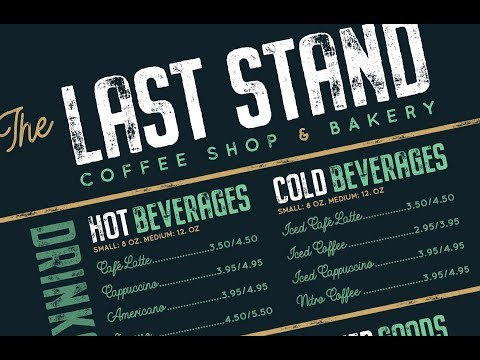 PHOTOSHOP TUTORIAL | How To Create A Coffee Shop & Bakery Menu Design