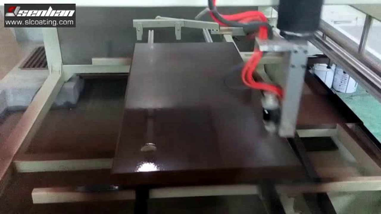 Automatic Spray Painting Wooden Veneered Mdf Office Furniture Youtube
