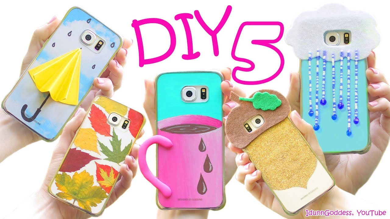 5 diy fall phone cases how to make cute phone cases for for How to make a homemade phone case