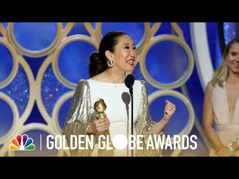 Sandra Oh Wins Best Actress in a TV Series, Drama - 2019 Golden Globes (Highlight)