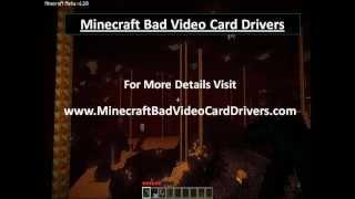 Minecraft Bad Video Card Drivers Fix