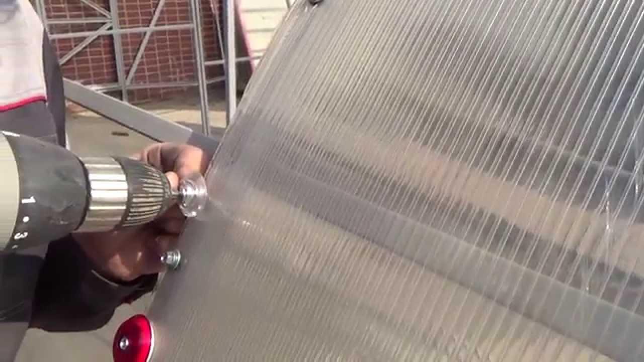 Промышленная Теплица под сотовый поликарбонат 35мм - YouTube