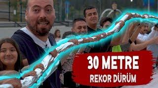 5.000 TL'YE 30 METRELİK DÜNYA'NIN EN BÜYÜK KEBABINI YAPTIK !!