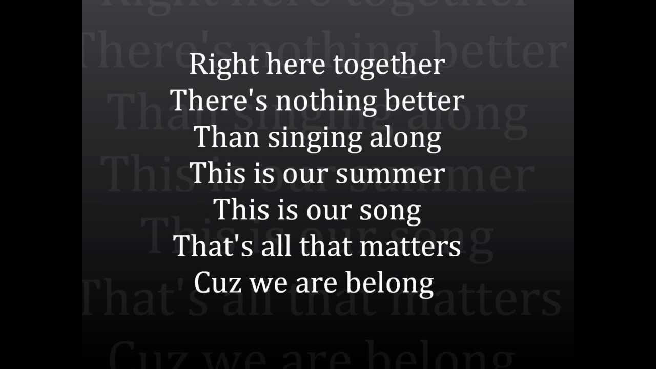 Camp Rock Final Jam – This Is Our Song Lyrics | Genius Lyrics
