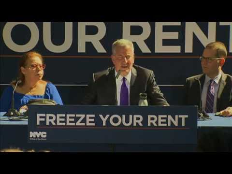 Mayor de Blasio Discusses Rent Freeze Program for Seniors and New Yorkers with Disabilities