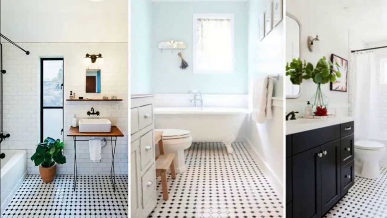 Bathroom Ideas Bathroom Floor Tiles Black And White Bathroom Art Youtube