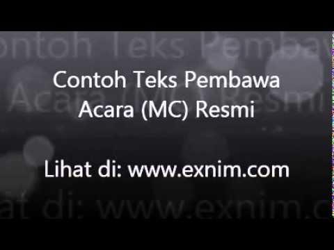 contoh teks pembawa acara (MC) resmi