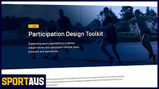 Introducing Sport Australia's Participation Design Toolkit