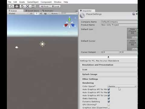 Switch Unity Color Space from Gamma to Linear