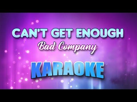 Can't Get Enough - Bad Company (Karaoke version with Lyrics)
