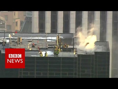Firefighters tackle Trump Tower blaze – BBC News