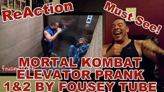 Mortal Kombat Elevator Prank 1 & 2 REACTION!!!