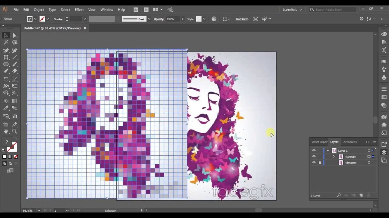 Adobe Illustrator pixel effect Adobe tutorial