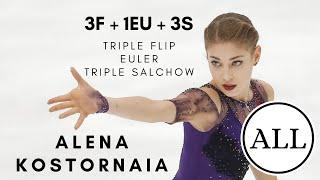 Alena KOSTORNAIA ALL TRIPLE FLIP EULER TRIPLE SALCHOWS 3F Eu 3S АленаКосторная