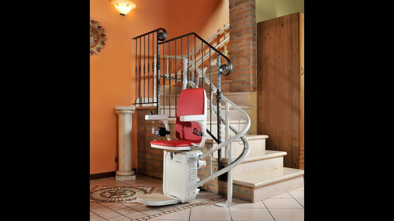 Cadeira Elevador Para Escadas Em Curva Youtube