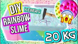 CHRUNCHY EISBERG SLIME 😱 20KG Rainbow Iceberg SLIME I PatDIY