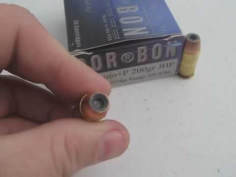 45 ACP - Corbon - 200 Gr  +P JHP Ammo Test