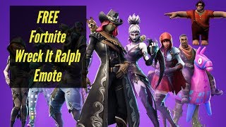 Fortnite ¦ FREE Wreck It Ralph Emote Battle Royale Today Only