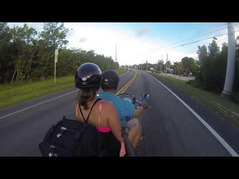 Motorcycle ride from Marathon to Key West, Florida Keys (July 2014) GoPro HERO 3