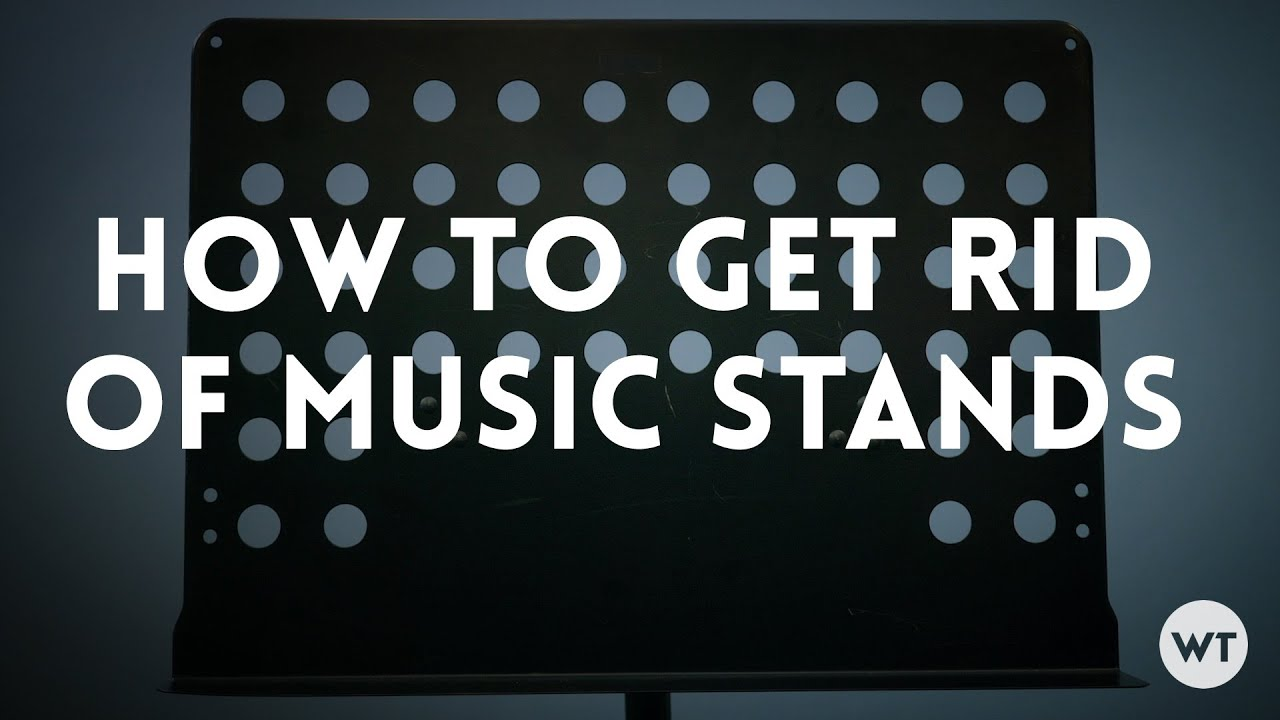 How to get rid of music stands in your church