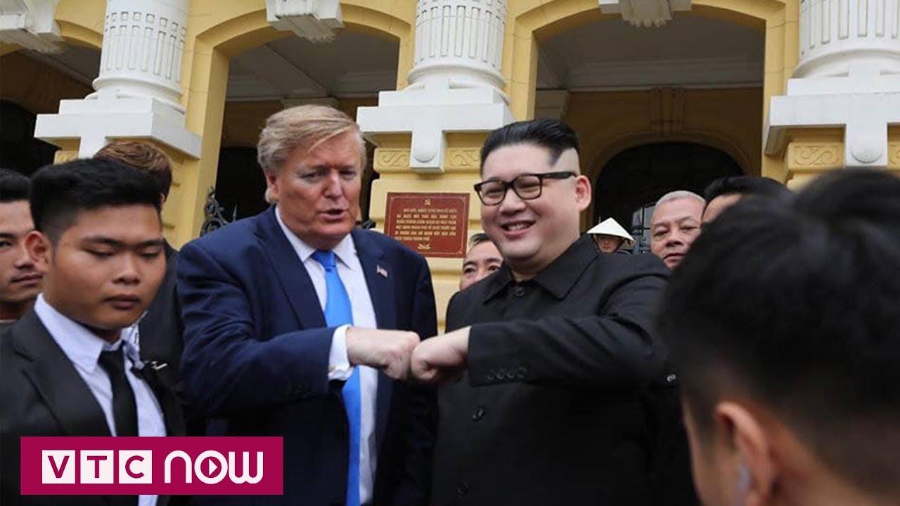 Bản sao Kim Jong-un và Donal Trump đi thăm Hà Nội