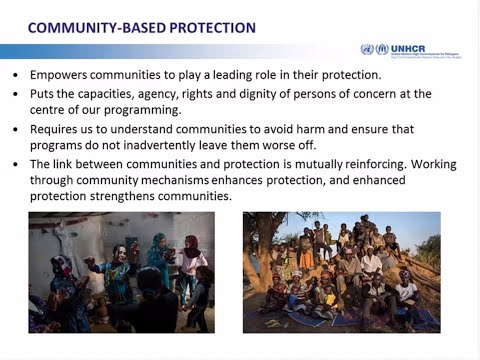 Webinar on Community Based Protection in Urban Areas