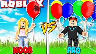 NOOB VS PRO W ROBLOX BALLOON SIMULATOR | Vito vs Bella