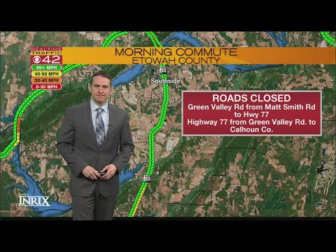 Road closures and delays March 20, 2018