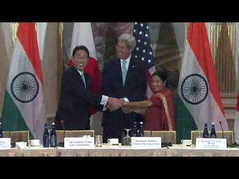 First Ever Trilateral Meeting with India and Japan