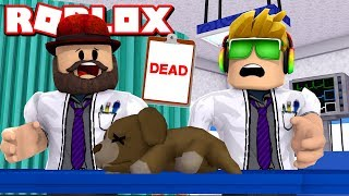 I HAVE TO HELP ALL SICK ANIMALS!!! / ROBLOX VET SIMULATOR