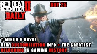Red Dead DAILY # 25 : The GOAT Reload Animation! The Red Dead Redemption 2 Gun Shoppe! 6 DAYS TO GO!
