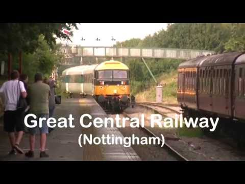 GCR Nottingham Prototype HST 41001 and 47765 Ruddington to Loughborough 27-8-16 47765 leading