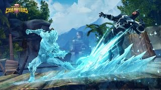Check out Iceman's special moves now playable in Marvel Contest of ...