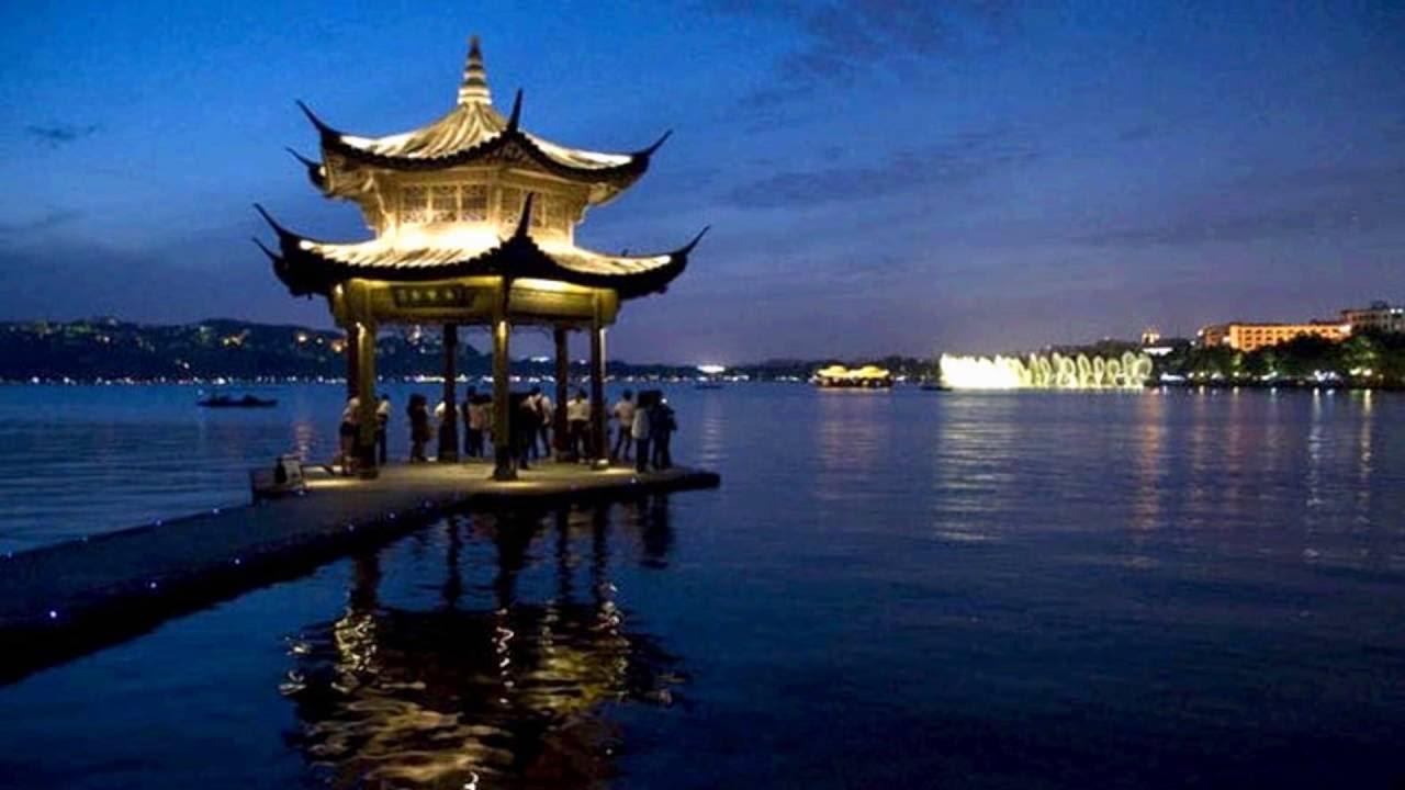 hangzhou west lake night - china  hd1080p