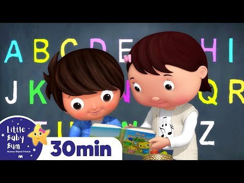 ABC School Song For Kids | +More Nursery Rhymes & Kids Songs | ABCs and 123s | Little Baby Bum