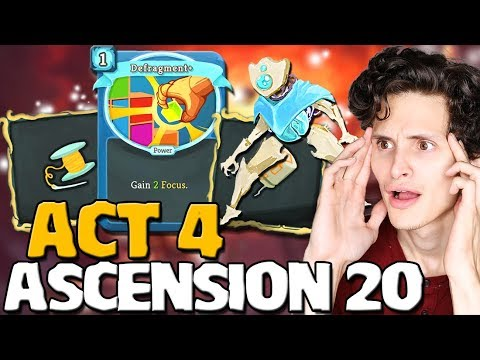Slay The Spire - Ascension 20 Act 4! Defect Attempt W/ Frost Focus