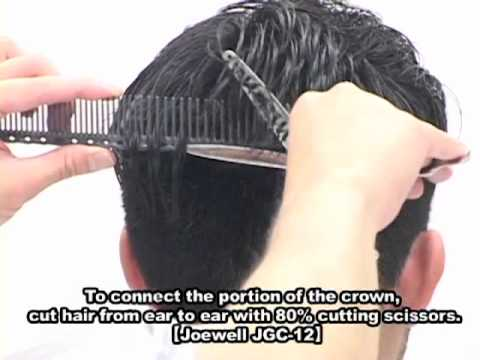 MENS Hairstying by Joewell JGC-12 (English subtitle)
