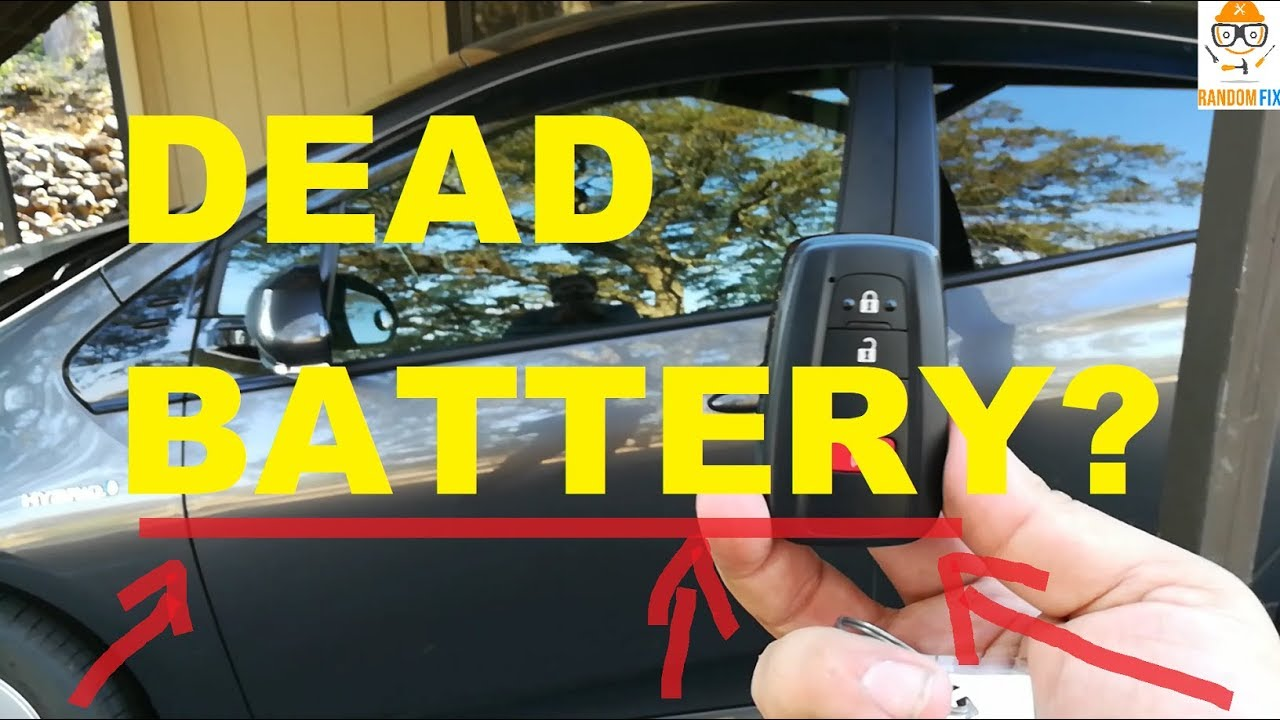 How To Unlock Your Car With A Smart Key When The Battery Is Dead Toyota Prius Youtube