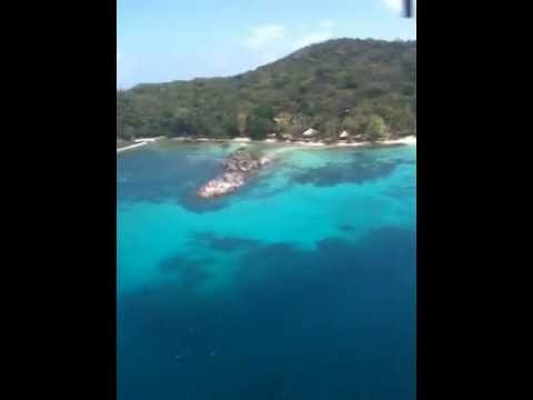 Landing on Flower Island, The Philippines