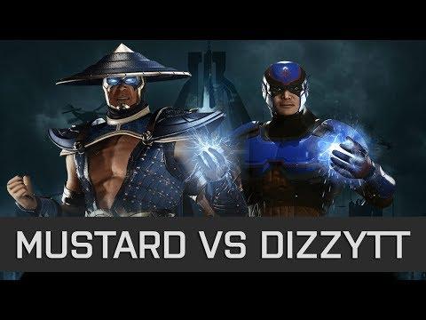 First Time Fighting Atom! - Injustice 2 -  Mustard (Raiden) vs DizzyTT (Atom)