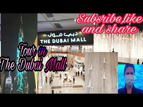 Tour in Dubai Mall/ Aquarium and Fountain with my friends
