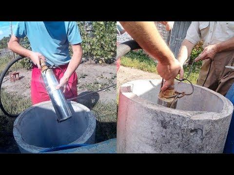 Использование насоса Водолей на даче. Скважина.