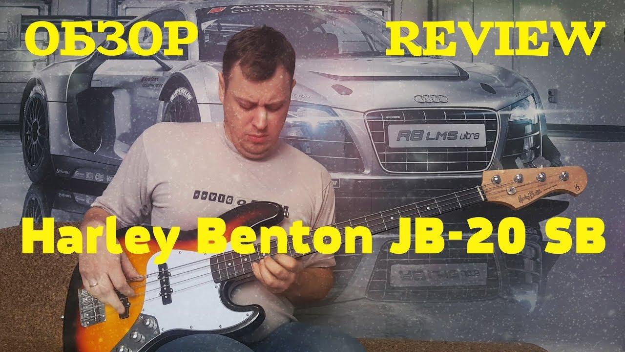 Обзор Бас гитары Harley Benton JB-20 SB Review