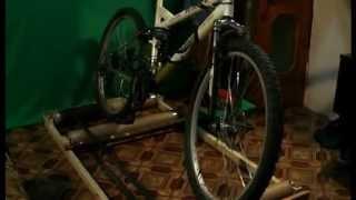 как сделать роликовый велостанок