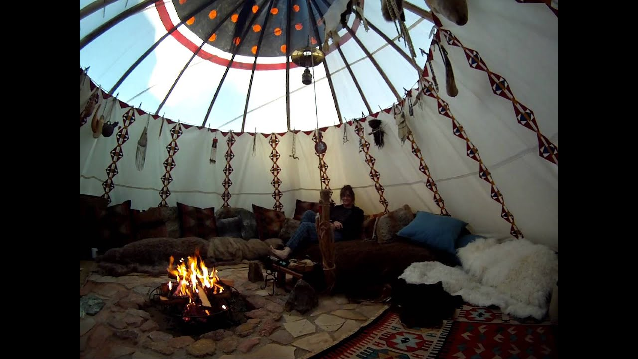 Early Morning Warm Fire In The Tipi Youtube