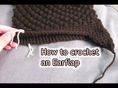 How to Crochet Ear Flaps onto a Hat - Crochet Tutorial